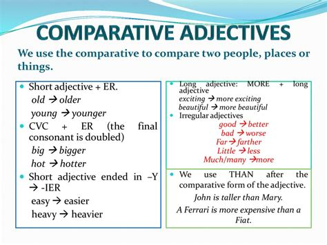 Comparative And Superlative Adjectives Grammar  Online Presentation