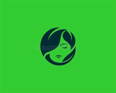 lovely girl logo template stock vector illustration  beauty