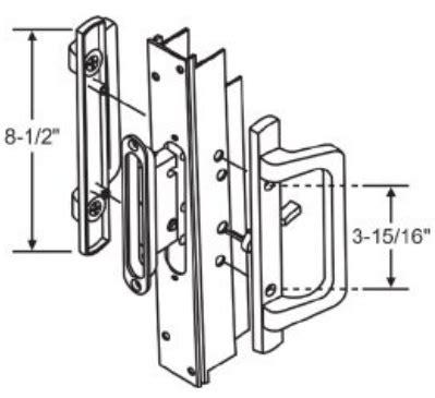 pgt sliding glass door handles  parts pdt series  pof white truth window hardware
