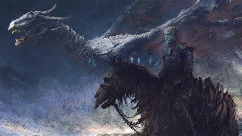 game  thrones  white walker  ice dragon art full hd