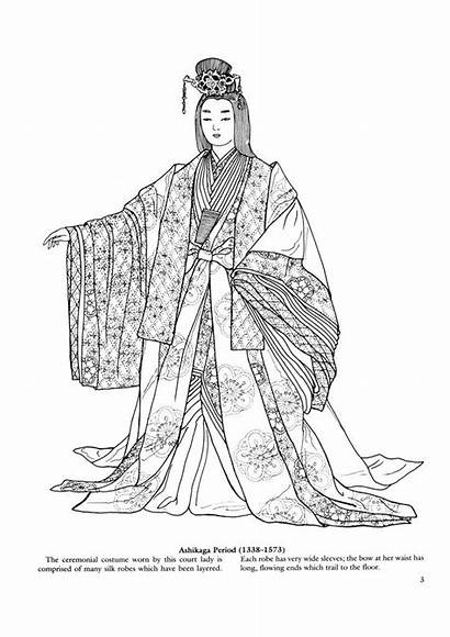 Coloring Pages Japanese Colouring Clothing Books Adult