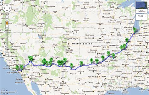 Route 66 Usa Karte