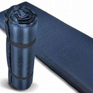Selbstaufblasbare Isomatte 10 Cm : xxl isomatte thermo selbstaufblasend luftmatratze blau 10 ~ Jslefanu.com Haus und Dekorationen