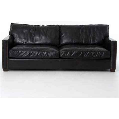 four hands carnegie sofa four hands carnegie larkin 88 quot sofa with old saddle black