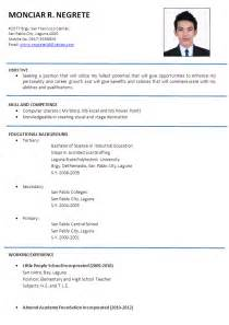 exle of a resume format welcome to s sle resume format exles