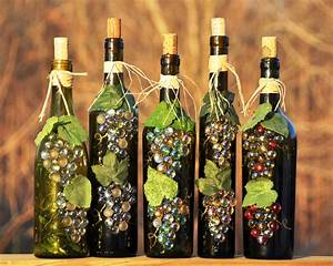wine bottle recycle craft project ~ crafts and arts ideas
