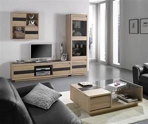 meuble contemporain en chene massif pour salle de sejour With meuble de salon contemporain