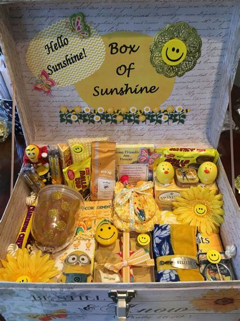 box  sunshine gift box ideas