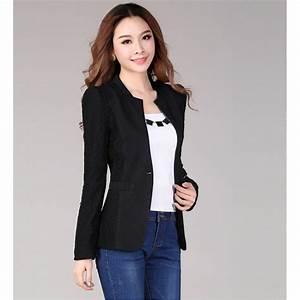 Black Casual Blazer Womens - Hardon Clothes