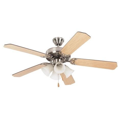 home decor ceiling fans yosemite home decor westfield 52 in bright brushed nickel