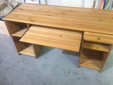 Ikea Schreibtisch Kiefer by Real Pine Wood Desk Ikea Matteus With Drawer Shelve In
