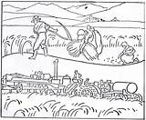 Harvesting Coloring Pioneer Pages Drawing Lds History Agricultural Early Mormon Harvest Days 1923 Growth November Sketch Blessings Template Templates Thanks sketch template