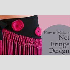 How To Make A Net Fringe Design For Belly Dance Hip Scarf Youtube