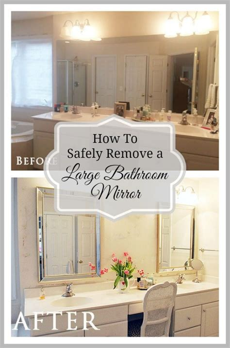 How To Replace A Bathroom Mirror by How To Safely And Easily Remove A Large Bathroom Builder