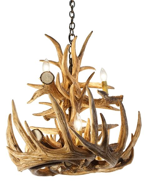 l deer horn chandelier with authentic look for your