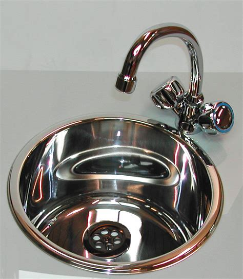 Cylindrical Sink Kit Stainless 300mm Dia 180mm Deep Round
