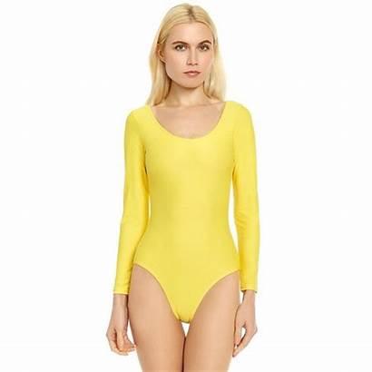 Leotard Yellow Sleeve Leveret Variety Xs Xl