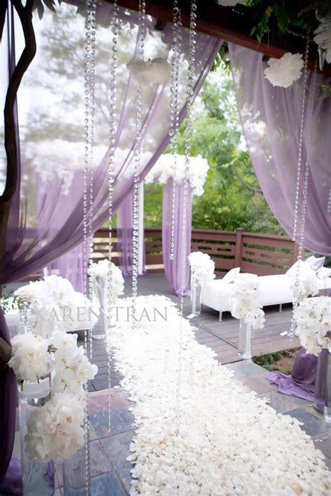 lavender themed wedding trend floral arrangements wedding and petals