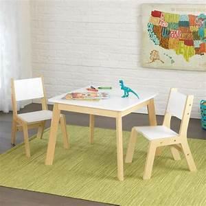 Table Enfant Avec Chaise : kidkraft table moderne avec 2 chaises achat vente table et chaise cdiscount ~ Teatrodelosmanantiales.com Idées de Décoration