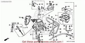 Honda Trx350 Fourtrax 1992  N  Sul Carburetor