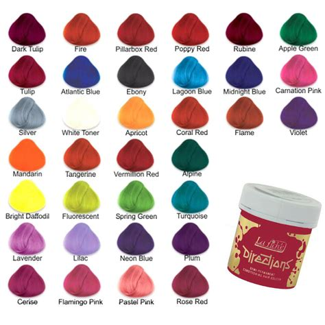 All Hair Colors by La Riche Directions Semi Permanent Hair Colour Dye All