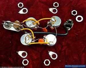 1970 Gibson Sg Standard Wiring Harness Pots Cts 500k