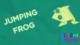 jumping frog making simple paper folding crafts  kids