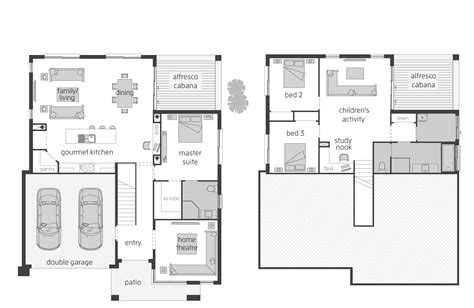 split entry floor plans horizon act floorplans mcdonald jones homes