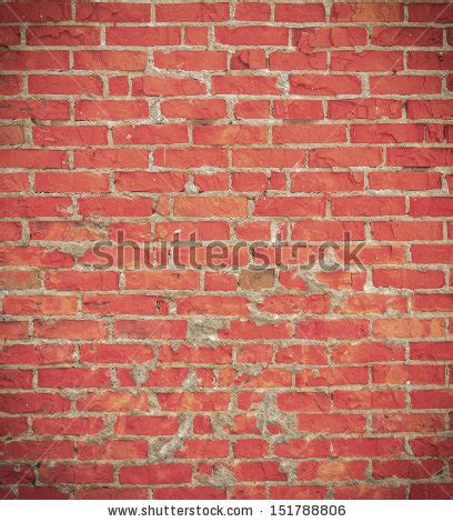 Worn Out Brick Painted Red Stock Photo 124651945