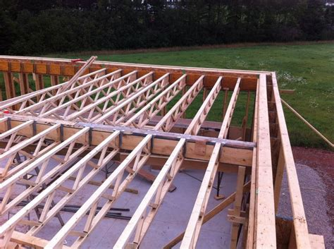 Wood Floor Joist Bridging by The Second Floor Framing Is Supported By A Joist