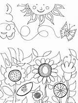 Coloring Pages Flower Flowers Gardening Paisagem Garden Printable Adult Primavera Sun Sheets Colorare Da Disegni Easter Di Nature Stampare Princetonol sketch template