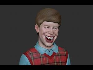 Bad Luck Brian - Speed Sculpt - YouTube