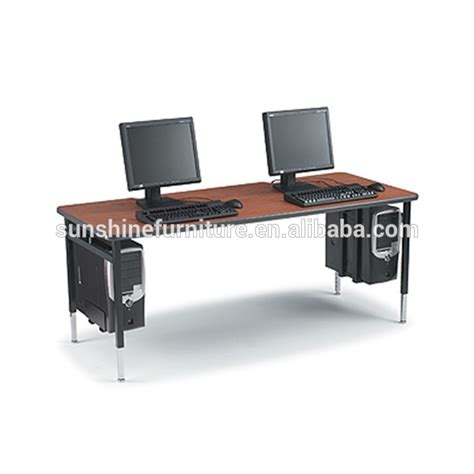 two person computer desk cheap modern design wooden long 2 person computer table