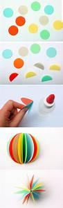 Boule En Papier : comment fabriquer une boule de no l et cr er une jolie d coration ~ Teatrodelosmanantiales.com Idées de Décoration