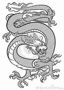 Dragon Black And White Royalty Free Stock Photos - Image ...