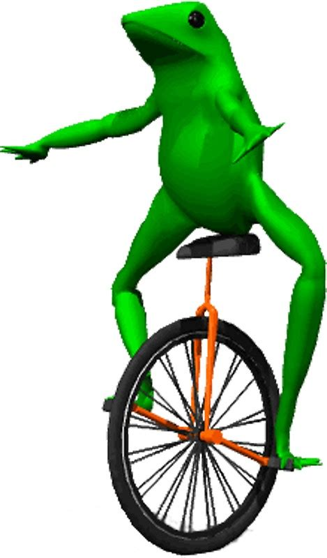 quot dat boi meme unicycle frog quot stickers by joedaeskimo redbubble