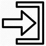 Icon Entry Input Login Entrance Threshold Enter