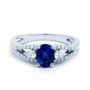 luxe sapphire engagement ring sapphire engagement rings With saphire wedding ring