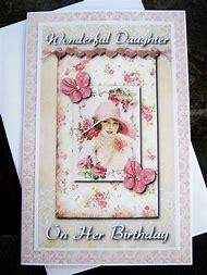 Vintage Birthday Card Daughter