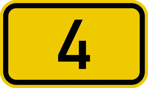 Bundesstraße 4 Number.svg