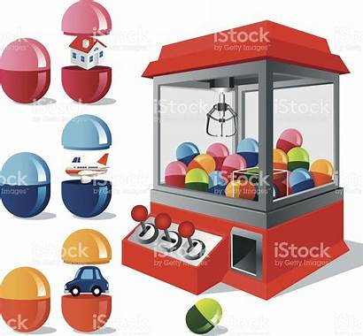 Claw Machine Toy Vector Clipart Vending Clip