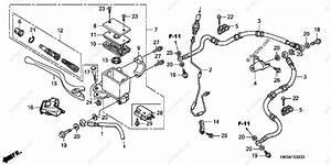 Honda Atv 2002 Oem Parts Diagram For Front Brake Master