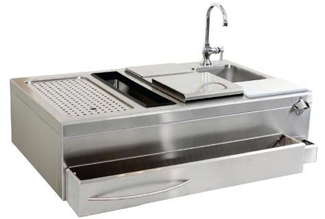 "Glastender Home Built In 42"" Cocktail Station and Sink for"