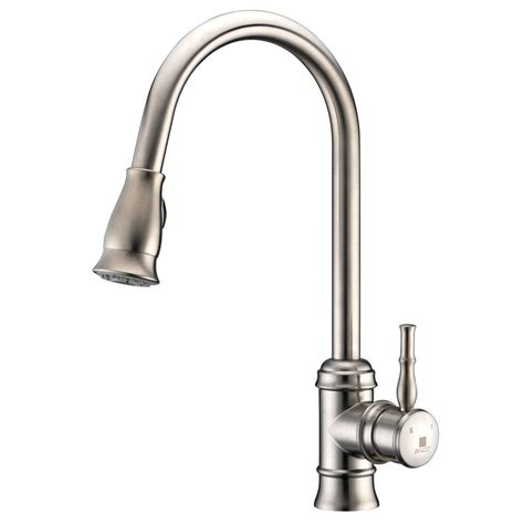 polished nickel kitchen faucets delta cassidy single handle pull sprayer kitchen
