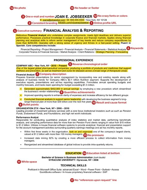 Exle Of A Great Resume by The Sle Resume For Anyone Looking For A New
