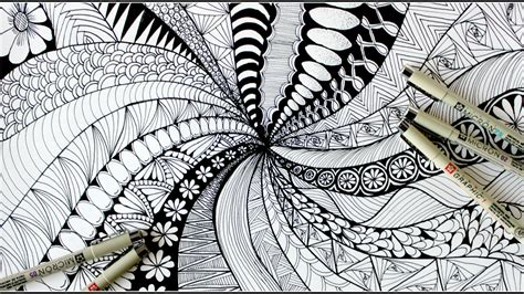 zentangle art doodle patterns zen doodle youtube