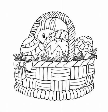 Easter Colouring Basket Pdf Pages Template Templates