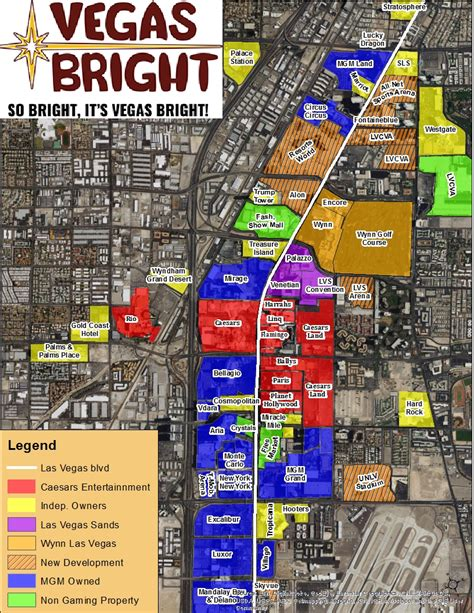 strip map vegas bright