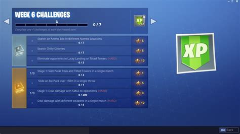 fortnite challenges week  gnome locations ice puck