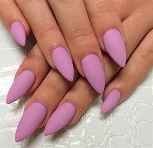 Matte Pink Almond Nails | Nails, nails, nails ...